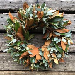 Fresh Magnolia and Seeded eucalyptus Wreath Mixed Greens Decor | Etsy | Etsy (US)