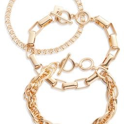 Set of 3 Luxe Chain Bracelets | Nordstrom