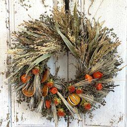 Autumn Citrus and Grains Wreath | Etsy | Etsy (US)