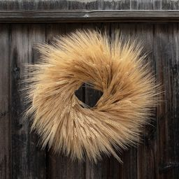 18 Dried Fall Wheat Wreath | Etsy | Etsy (US)