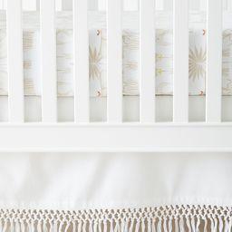 Macramé Crib Skirt   Serena and Lily