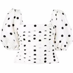 polka-dot print blouse | Farfetch (US)