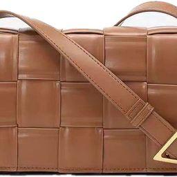 Luxury Design Waterproof Weave PU Leather Shoulder Crossbody Messenger Bags Women Purse and Handb...   Amazon (US)