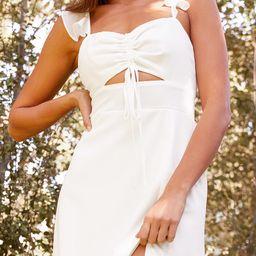 The Way to Love White Ruffled Maxi Dress   Lulus (US)