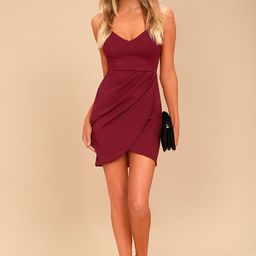 Forever Your Girl Wine Red Bodycon Dress   Lulus (US)