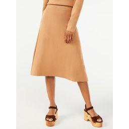 Free Assembly Women's Midi Fit & Flare Sweater Skirt - Walmart.com | Walmart (US)