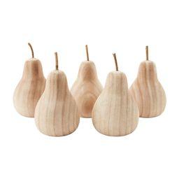 Large Wood Decorative Pear-P | Mud Pie (US)