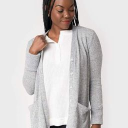 Candace Mid Length Soft Ribbed Cuff Cardigan | Gibson