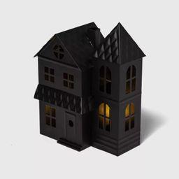 Metal Haunted House Estate Halloween Decorative Sculpture - Hyde & EEK! Boutique™ | Target