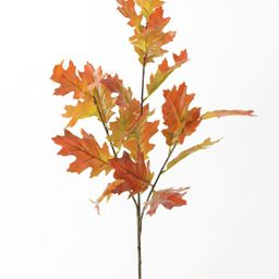"Autumn Orange Artificial Fall Oak Leaf Branch - 38"" | Afloral (US)"