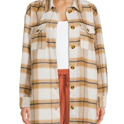 The Get Women's Long Button-Front Shacket - Walmart.com   Walmart (US)