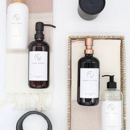 Plastic Bottle  Amber/Clear/White/Black Bottle Soap Dispenser | Etsy | Etsy (US)