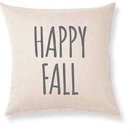 Bonnie Jeans Homestead Prints Happy Fall - Rae Dunn - Pillow Cover - Fall Decor (Oatmeal, 18x18) ... | Walmart (US)