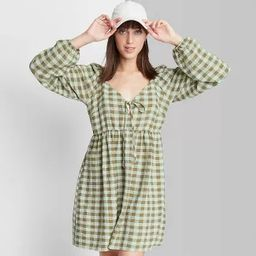 Women's Long Sleeve Tie-Front Muse Dress - Wild Fable™ | Target
