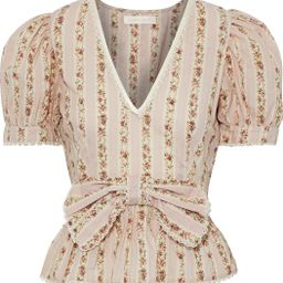 Blush Rikki bow-embellished floral-print cotton top   Sale up to 70% off   THE OUTNET   LOVESHACK...   The Outnet (US and CA)