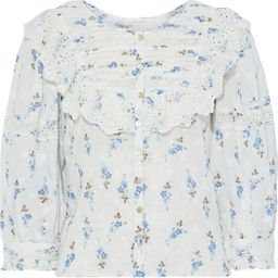 White Canna ruffled floral-print cotton-voile top   Sale up to 70% off   THE OUTNET   LOVESHACKFA...   The Outnet (US and CA)