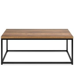 Best Choice Products 44in Modern Industrial Style Rectangular Wood Grain Top Coffee Table w/ Meta... | Walmart (US)