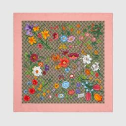 GG Flora print silk scarf   Gucci (US)