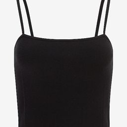Cropped Square Neck Sweater Cami   Express