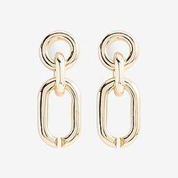 Interlocking Oval Chain Link Drop Earrings   Express