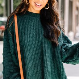 Ins and Outs of Love Forest Green Chunky Knit Sweater | The Mint Julep Boutique