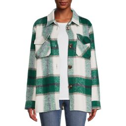 Jason Maxwell Women's Faux Wool Shirt Jacket - Walmart.com | Walmart (US)