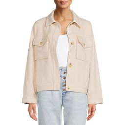 Time and Tru Women's Shirt Jacket - Walmart.com | Walmart (US)