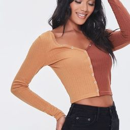 Ribbed Colorblock Crop Top   Forever 21 (US)