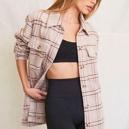 Plaid Button-Front Shacket   Forever 21 (US)