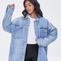 Oversized Denim Jacket   Forever 21 (US)