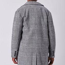 Glen Plaid Longline Coat   Forever 21 (US)