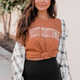 Best Costume Burnt Orange Graphic Tee   The Pink Lily Boutique