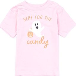 Kids Here For The Candy Ghost Graphic Pink Tee   The Pink Lily Boutique