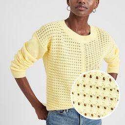 Open Stitch Crew-Neck Sweater | Banana Republic Factory
