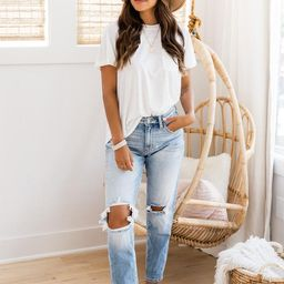 Lesley High Waisted Mom Jeans | The Pink Lily Boutique