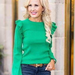 Randi Sweater- Green | Avara