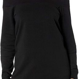 Amazon Brand - Daily Ritual Women's Relaxed Fit Terry Cotton and Modal Cold Shoulder Tunic | Amazon (US)