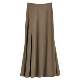 Tencel Split Front Maxi Skirt   Cuyana