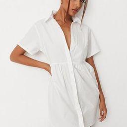 Missguided - White Poplin Shirt Smock Dress | Missguided (US & CA)