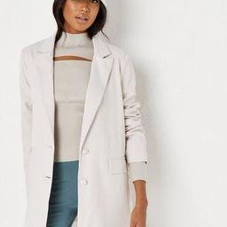 Missguided - Ecru Oversized Blazer | Missguided (US & CA)