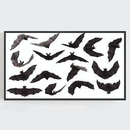 Samsung Frame TV Art Halloween Wall Art Bats Wall Art Black | Etsy | Etsy (US)