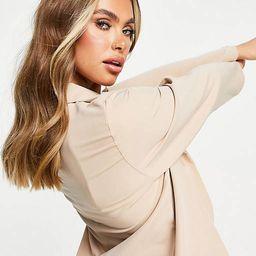 Femme Luxe - Blazer oversize coupe dad - Sable | ASOS | ASOS (Global)
