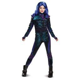 Kids' Deluxe Disney Descendants Mal Halloween Costume Jumpsuit   Target