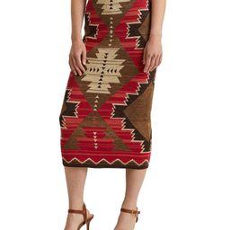 Southwestern Print Cotton Blend Midi Skirt | Dillards