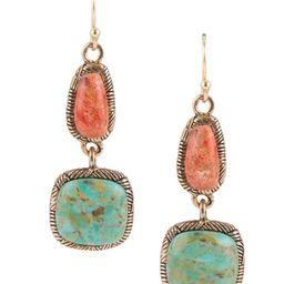 Bronze Genuine Turquoise and Orange Sponge Coral Drop Earrings | Dillards