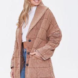 Quilted Longline Jacket   Forever 21 (US)