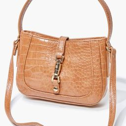 Faux Croc Leather Crossbody Bag   Forever 21 (US)