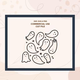 GLEEFUL GHOSTS MINI  halloween ghost svg png cut files for   Etsy   Etsy (US)