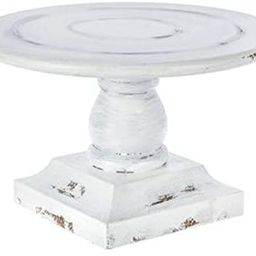 """Round Whitewash Special Occasion Wood Cake Stand 