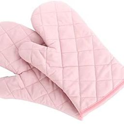 Oven Mitts, Premium Heat Resistant Kitchen Gloves Cotton & Polyester Quilted Oversized Mittens, 1... | Amazon (US)